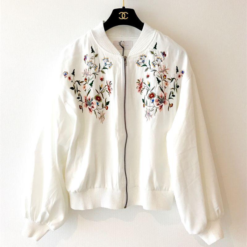SS 刺繍バルーンボンバージャケット